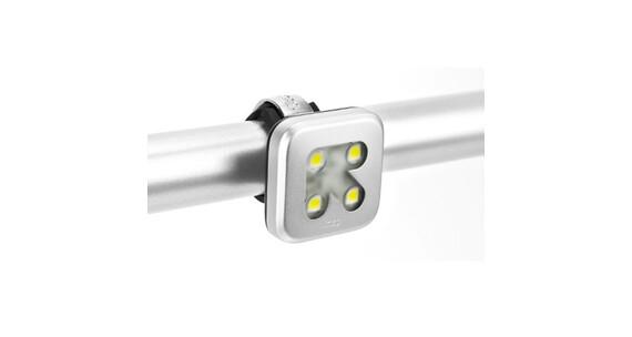 Knog Blinder 4 weiße LED Arrow silber